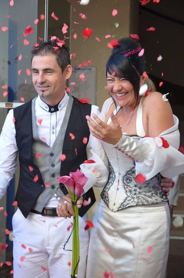 sandrine grellier robe mariage marjorie